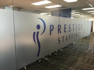 Window Film Prestige Staffing Frosted Window Graphics 300x225