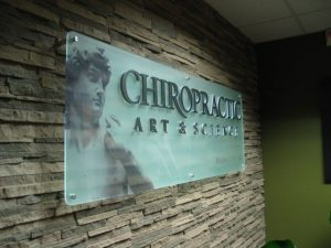 Acrylic Signs VinylCutOnFrosted lobby sign 300x225