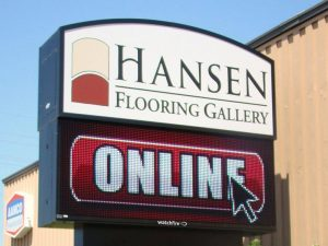 Digital Signs & Message Centers custom lighted led outdoor pole sign 300x225