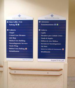 Bilingual Wayfinding Signage